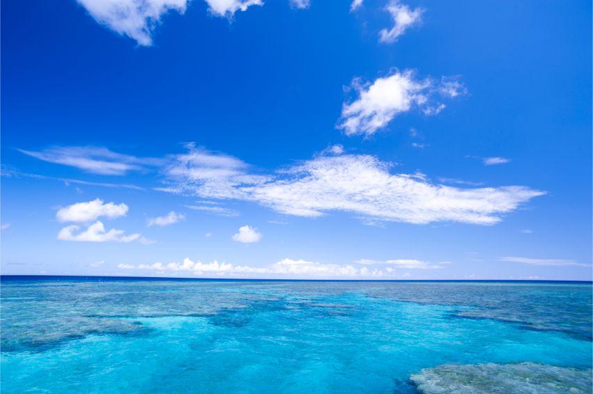 石垣島の米原ビーチの沖にある米原Wリーフ