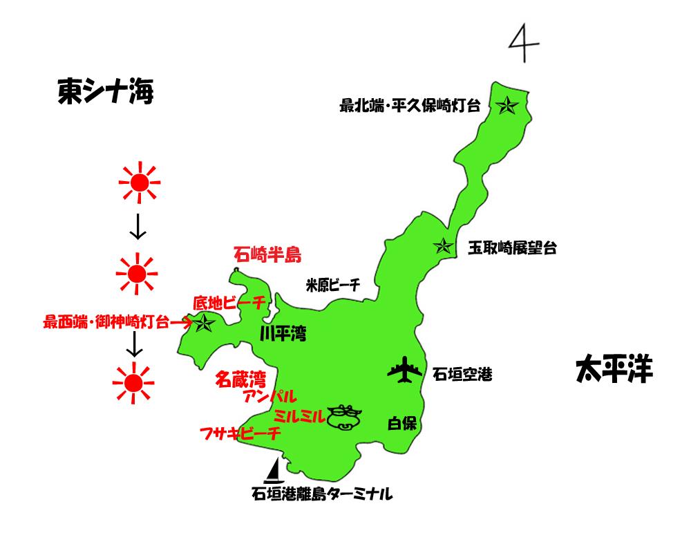 石垣島のマップ
