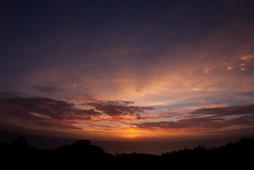 石崎半島から見る夕日