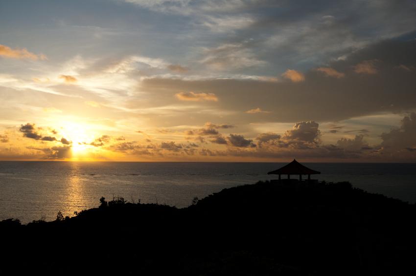 玉取崎展望台から見る朝日