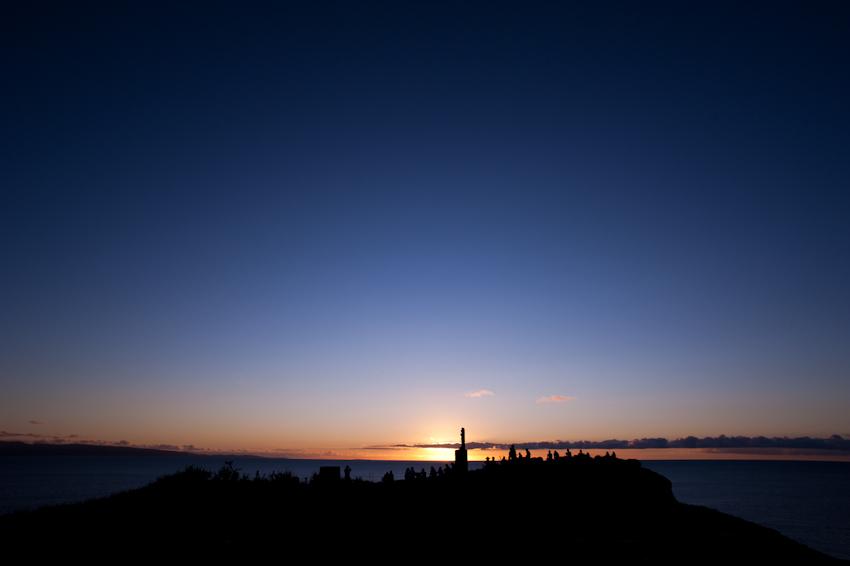 御神崎灯台から見る夕日